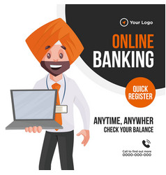 banner design online banking vector image