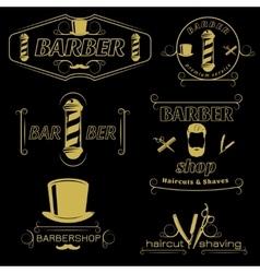 Barber Service Vintage Style Emblems vector
