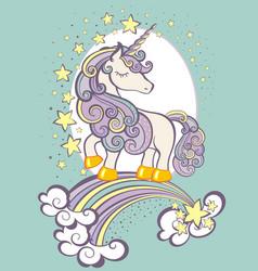 beautiful unicorn vector image