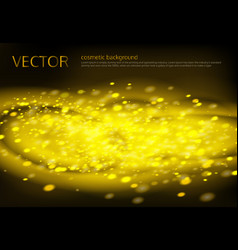 Black background with golden sparkles vector