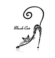 black cat design vector image
