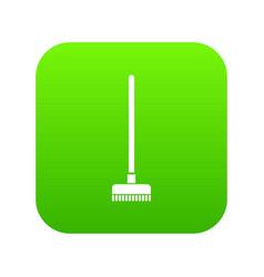 Brush for a floor icon digital green vector