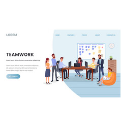 Business company landing page template vector