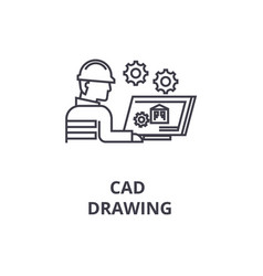 cad drawing line icon sign vector image