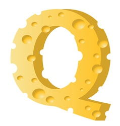 cheese letter Q vector image