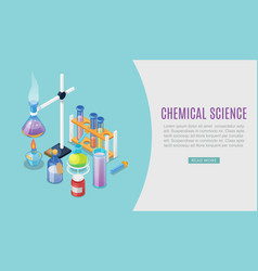 chemistry experiment flat design vector image