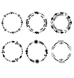 circle arrow monograms frame vector image