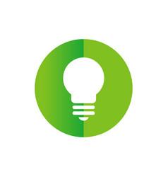 circle with lightbulb icon - logo vector image