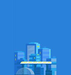 City landscape vertical banner modern vector