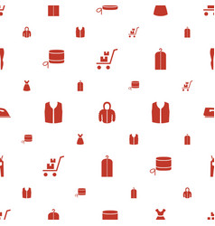 Clothing icons pattern seamless white background vector