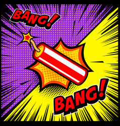 comic style dynamite explosion design element vector image