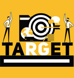 creative word concept target and people doing vector image