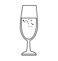 cup of champagne icon vector image