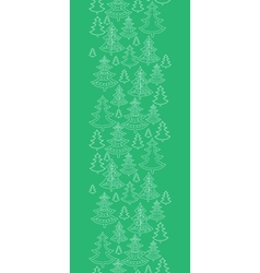 Doodle Christmas trees vertical seamless pattern vector image