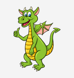 Dragon cartoon character vector