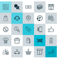 E-commerce icons set collection of rebate sign vector