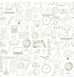 Education seamless background vector image