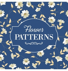 Elegant flowers fabric vector