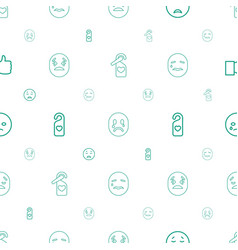 facebook icons pattern seamless white background vector image