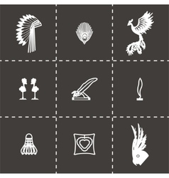 Feather icon set vector image