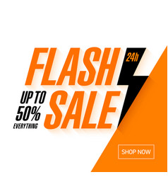 Flash sale banner 24 hours only vector