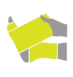 Flat icon injured leg or foot with bandage vector