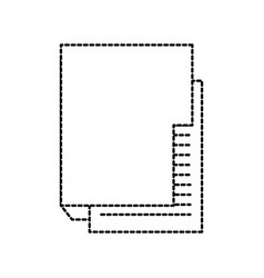 folder file document digital internet icon vector image