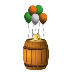 Globes party barrel beer vector