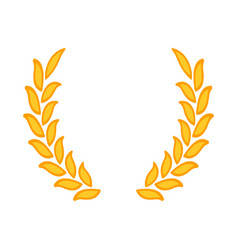 gold laurel wreath - a symbol of the winner wheat vector image