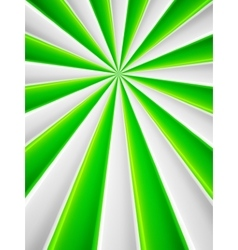 Green and white abstract rays circle poster vector