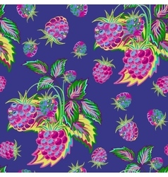 hand painted pattern bright colorful raspberry vector image