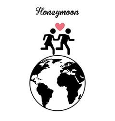 honeymoon vector image