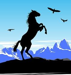Horse standing vector