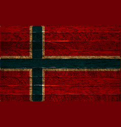 Iceland flag on old wood texture background vector