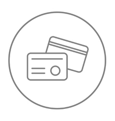 Identification card line icon vector image