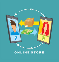 image about online store vector image