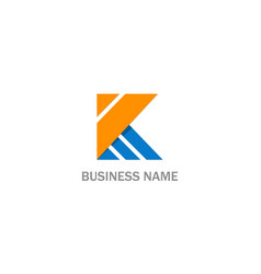 k initial abstract company logo vector image