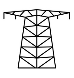 large electric tower icon outline style vector image