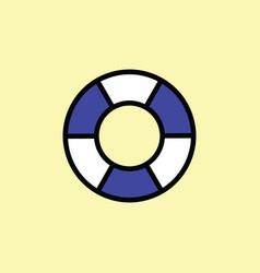 lifebuoy icon thin line color vector image