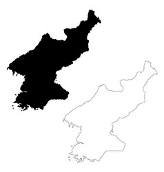 Map north korea isolated vector