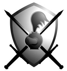 Medieval shield symbol vector