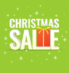 minimalistic poster christmas sale and discounts vector image