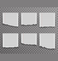 notebook torn paper edge notes sheet ripped vector image