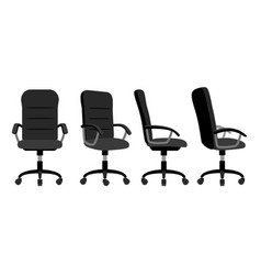 Office chair front and back vector