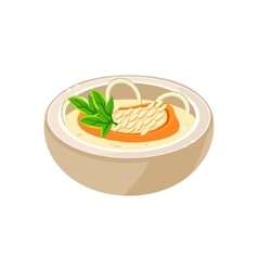 Onion Soup in a Bowl vector image