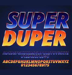 Orange blue font vector