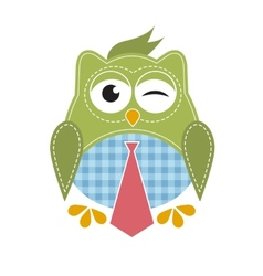owl with tie vector image