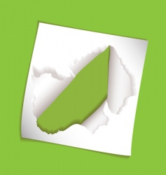 paper element rip hole vector image