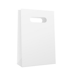 Paper shopping bag mockup vector