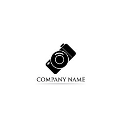 photography logo black vector image